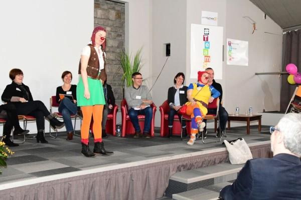 Succès pour les interventions clown à l'AFM-Téléthon